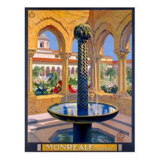 Monreale Palermo Italy Vintage Travel Poster Postcard