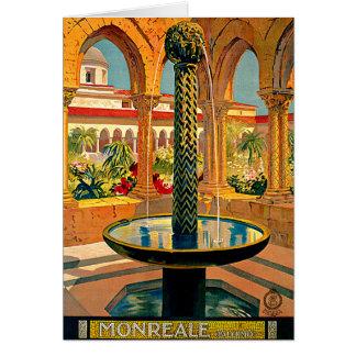 Monreale Palermo Sicily Italy Travel Art Card