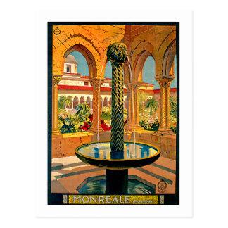 Monreale Palermo Sicily Italy Travel Art Postcard