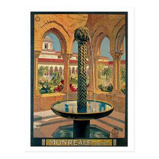Monreale, Palermo, Sicily Vintage Travel Poster Postcard