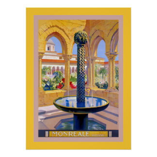 Monreale ~ Palermo ~ Vintage Italian Travel Poster