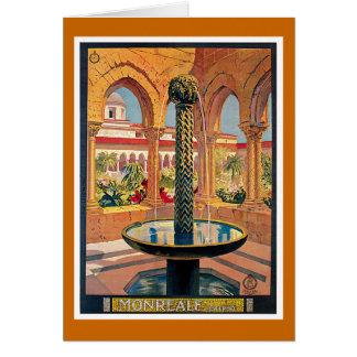Monreale Vintage Travel Advertisement Card