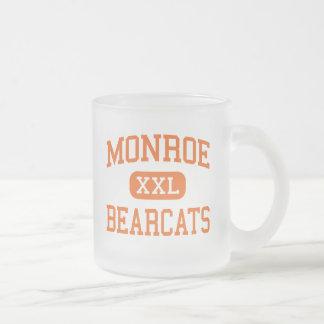 Monroe - Bearcats - High - Monroe Washington 10 Oz Frosted Glass Coffee Mug
