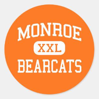 Monroe - Bearcats - High - Monroe Washington Classic Round Sticker