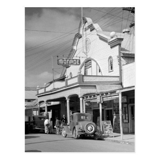 Monroe Cafe, Key West, 1930s Post Card