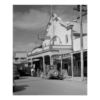 Monroe Cafe, Key West, 1930s Poster