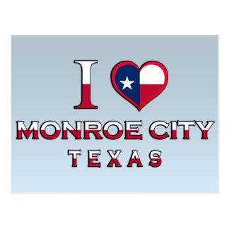Monroe City, Texas Postcard