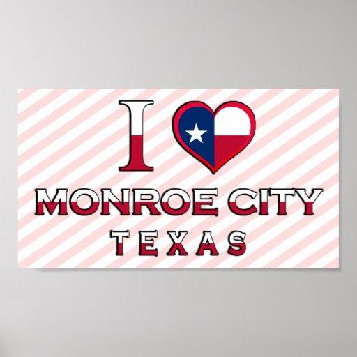 Monroe City, Texas Poster
