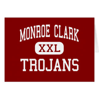 Monroe Clark - Trojans - Middle - San Diego Greeting Card
