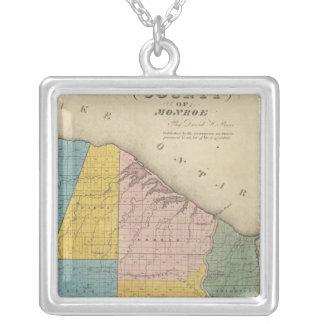 Monroe County Square Pendant Necklace