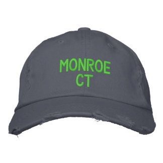 MONROE CT - EMBROIDERED CAP - Customized Embroidered Baseball Cap