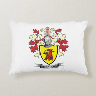 Monroe Family Crest Coat of Arms Accent Pillow
