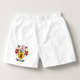 Monroe Family Crest Coat of Arms Boxers