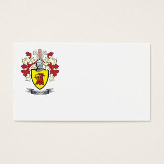 Monroe Family Crest Coat of Arms Business Card