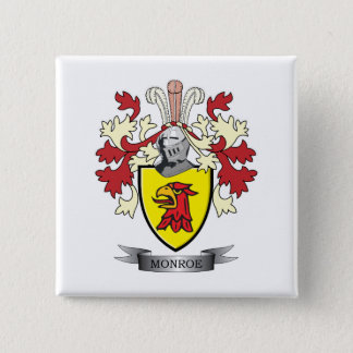 Monroe Family Crest Coat of Arms Button