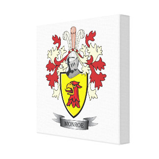 Monroe Family Crest Coat of Arms Canvas Print
