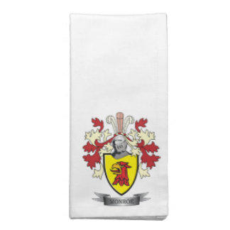 Monroe Family Crest Coat of Arms Cloth Napkin