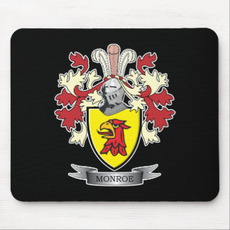 Monroe Family Crest Coat of Arms Mouse Pad