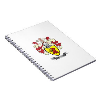 Monroe Family Crest Coat of Arms Notebook