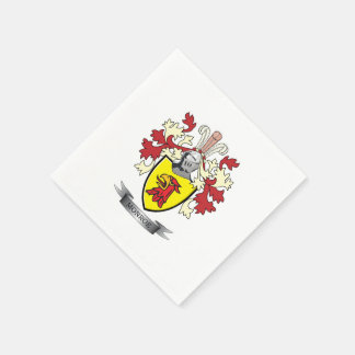 Monroe Family Crest Coat of Arms Paper Napkin