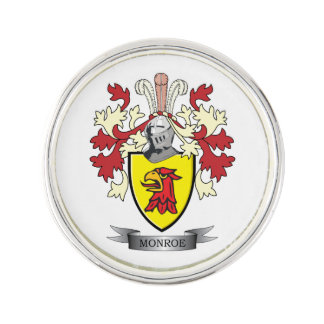 Monroe Family Crest Coat of Arms Pin