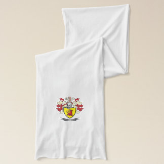 Monroe Family Crest Coat of Arms Scarf