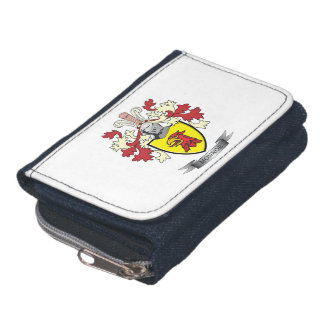 Monroe Family Crest Coat of Arms Wallets