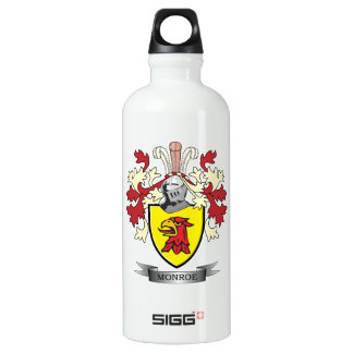Monroe Family Crest Coat of Arms Water Bottle