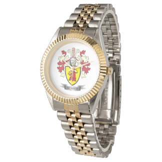 Monroe Family Crest Coat of Arms Wrist Watch