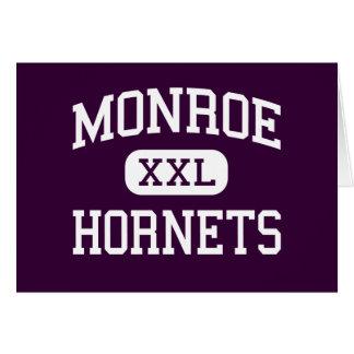 Monroe - Hornets - High School - Monroe Ohio Greeting Card