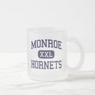 Monroe - Hornets - High School - Monroe Ohio 10 Oz Frosted Glass Coffee Mug