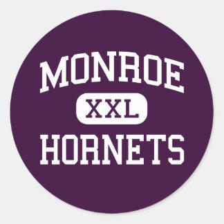 Monroe - Hornets - High School - Monroe Ohio Classic Round Sticker
