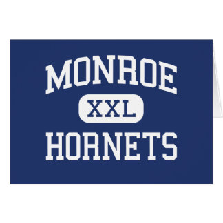 Monroe Hornets Middle Rochester New York Greeting Card