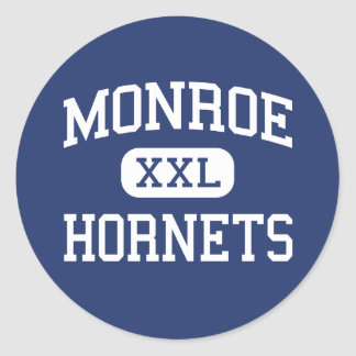 Monroe Hornets Middle Rochester New York Classic Round Sticker