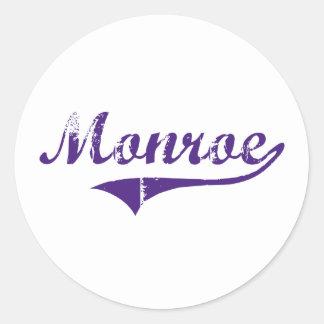 Monroe Louisiana Classic Design Round Stickers