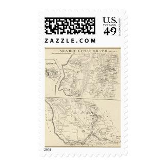 Monroe, Lyman, Bath Postage Stamp
