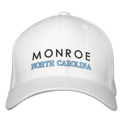 MONROE, NORTH CAROLINA HAT EMBROIDERED HAT
