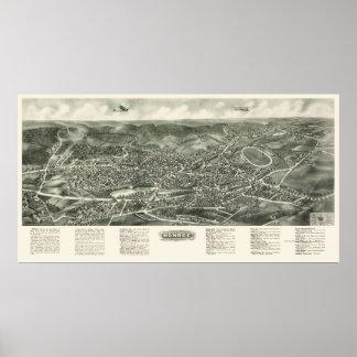 Monroe, NY Panoramic Map - 1923 Poster