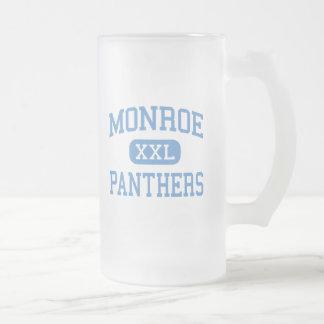 Monroe - Panthers - High - Tehachapi California Frosted Glass Beer Mug