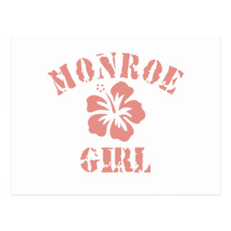 Monroe Pink Girl Post Card
