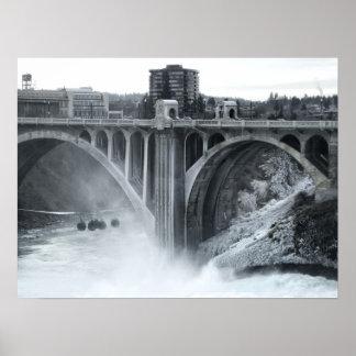 Monroe St Bridge 2 - Spokane Washington Poster