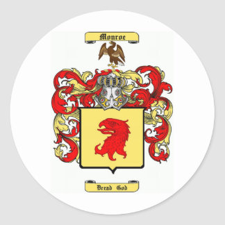 monroe classic round sticker