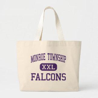 Monroe Township - Falcons - High - Monroe Township Canvas Bags