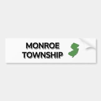 Monroe Township, New Jersey Bumper Sticker