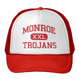 Monroe - Trojans - High School - Monroe Michigan Trucker Hat