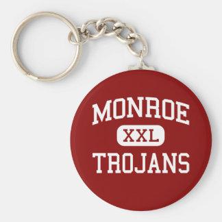 Monroe - Trojans - High School - Monroe Michigan Key Chain