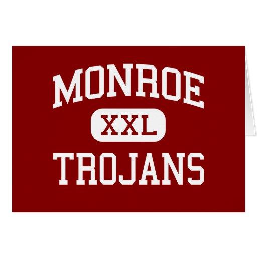 Monroe - Trojans - Middle School - Monroe Michigan Greeting Card