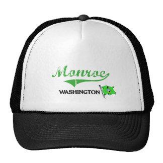 Monroe Washington City Classic Trucker Hats
