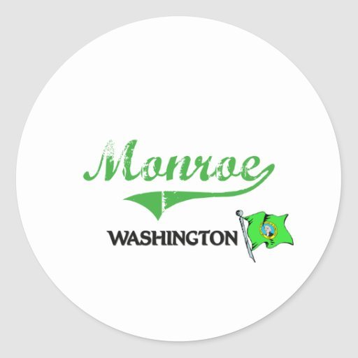 Monroe Washington City Classic Stickers