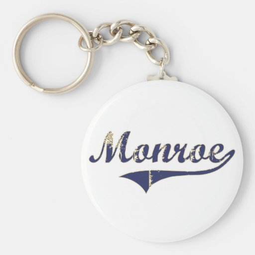 Monroe Washington Classic Design Basic Round Button Keychain